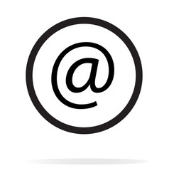 email icon on white background email sign vector image