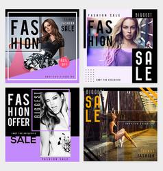 Fashion sale background vector