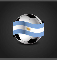 football flag design vector image
