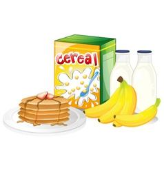 Full breakfast meal vector image