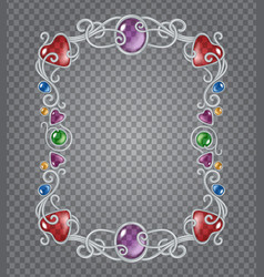 Gemstones frame vector