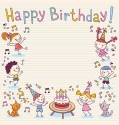Happy Birthday card 12 vector image