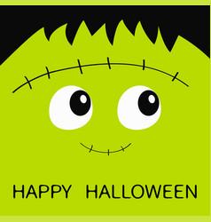 Happy halloween frankenstein zombie monster vector