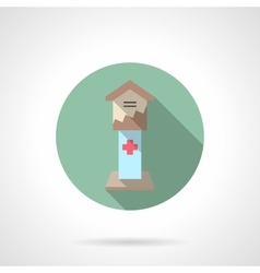 Health care fundraising flat color icon vector