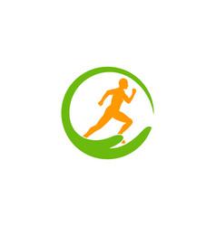 Help run logo icon design vector