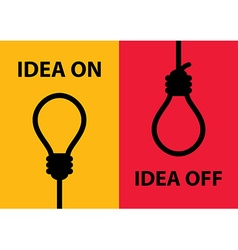 Idea on and off vector image