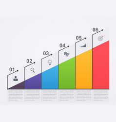 infographic growth scale with numbers vector image