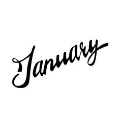 january hand lettered quote vector image