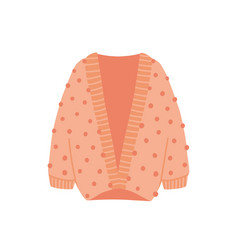 Knitted cardigan flat cozy vector