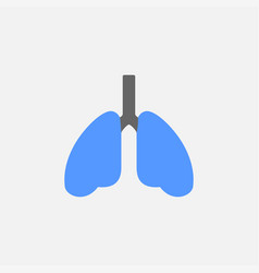 lungs flat icon isolated on white background vector image