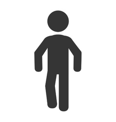 Man body silhouette pictogram vector image