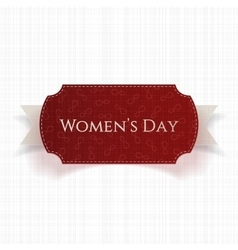 March 8 Womens Day red realistic greeting Card vector
