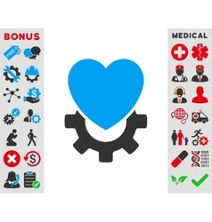Mechanical Heart Icon vector image