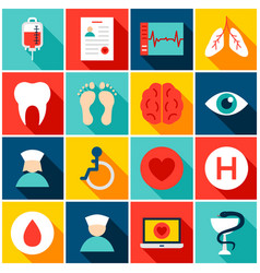 medical hospital colorful icons vector image