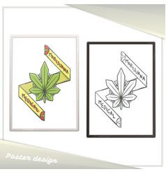 medical marijuana poster one vector image
