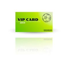 Modern VIP card template vector