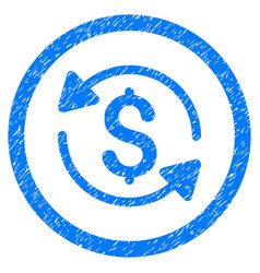 Money turnover rounded grainy icon vector