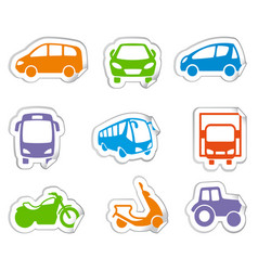 motor transport stickers vector image