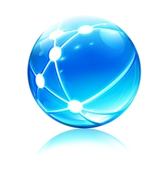 Network sphere icon vector