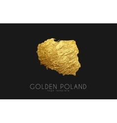 Poland map Golden Poland logo Creative Poland vector