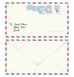 Postcard Letter to Santa vector
