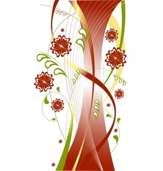 red floral theme vector image