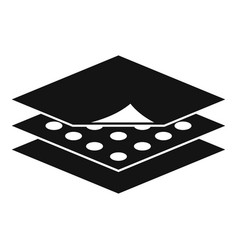 Resistant fabric feature icon simple style vector