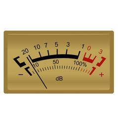 retro stereo decibel meter vector image