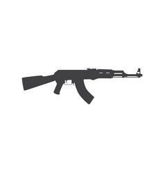 Russian assault rifle icon vector