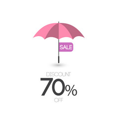 sale discount 70 off umbrella template design icon vector image