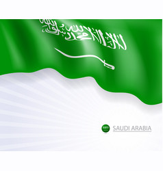 Saudi arabia flags design banner and background vector