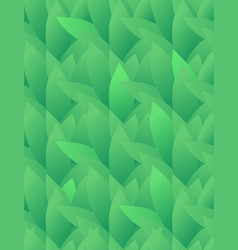 seamless texture with green leaves in a row vector image