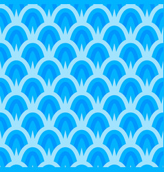 Seamless traditional japanese seigaiha ocean wave vector