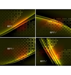 Set abstract backgrounds with copyspace vector