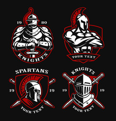 set of ancient warriors vector image