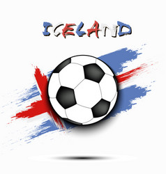 Soccer ball and iceland flag vector