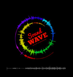 sound wave spiral form vector image