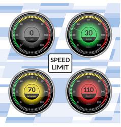 speedometer car speed dashboard panels vector image