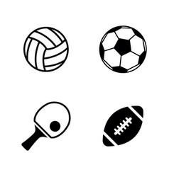sport balls simple related icons vector image