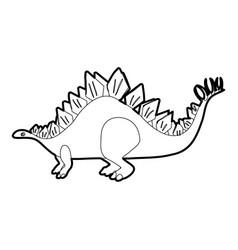 Stegosaurus icon outline vector