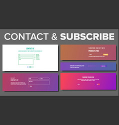 Subscribe form service system modern vector
