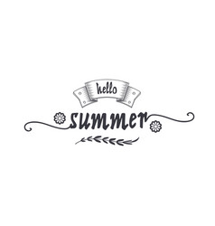 summer - handmade template isolated object vector image