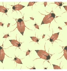 Summer seamless pattern with cockchafers vector image