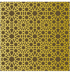 Traditional east geometric decorative pattern gold vector