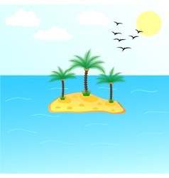 Uninhabited Island vector image