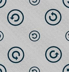 Upgrade arrow update icon sign Seamless pattern vector