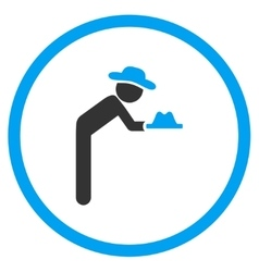 User Servant Circled Icon vector