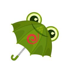 Ute green frog umbrella on a vector
