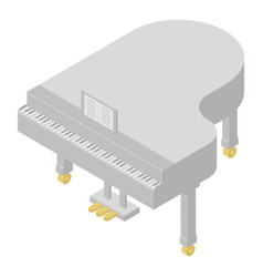 white grand piano icon isometric style vector image