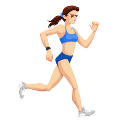 Woman running color vector